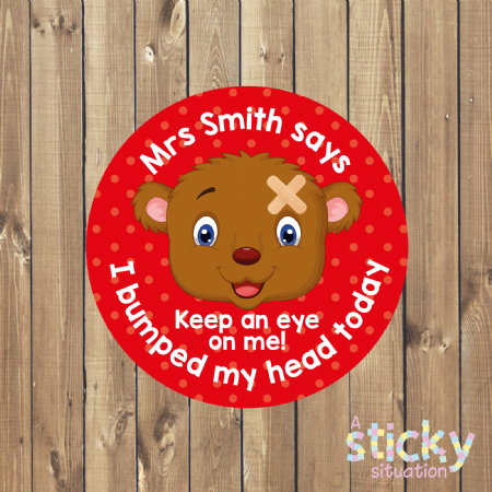 Personalised Bumped Head Bravery Stickers